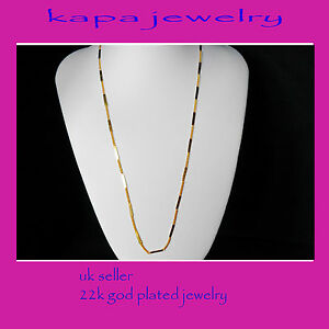 Mens Jewellery 22k Gold Plated Necklace for Men or Women Chain Indian gold a12a - London, United Kingdom - If there is problem with the item contact us by email kapadia59@hotmail.com returns are only accepted if sent in the same condition sent. NOTE BUYER PAYS FOR RETURN POSTAGE Most purchases from business sellers are protected by the - London, United Kingdom