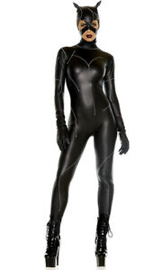 0e682d7586e Forplay On The Prowl Villain Sexy Cat Adult Womans Halloween Costume ...