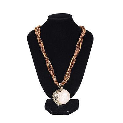 Retro Bohemian Style Womens Rhinestone Peacock Gem Pendants Statement Necklaces