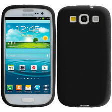 For Samsung Galaxy S3 Silicone Soft Rubber Skin Case Cover Accessory Black