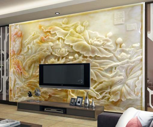 3D Lotus Adorn 662 Wallpaper Murals Wall Print Wallpaper Mural AJ WALL AU Kyra