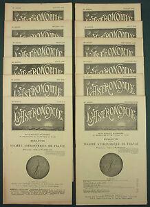 DéVoué L'astronomie : Bulletin De La Saf - 1942 Annee Complete 12 N° - Meteorologie