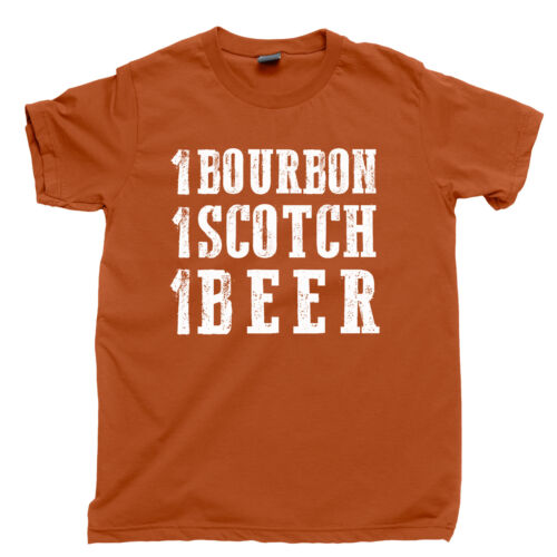 One Bourbon One Scotch One Beer T Shirt I Drink Alone Whisky Whiskey Bar Tee