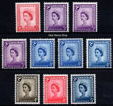 GB 1958-69 Isle of Man Pre-Decimal Definitive Set of 10  Unmounted Mint