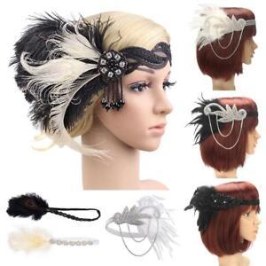 1920s-Headpiece-Feather-Flapper-Headband-Great-Gatsby-Headdress-Vintage-Prom