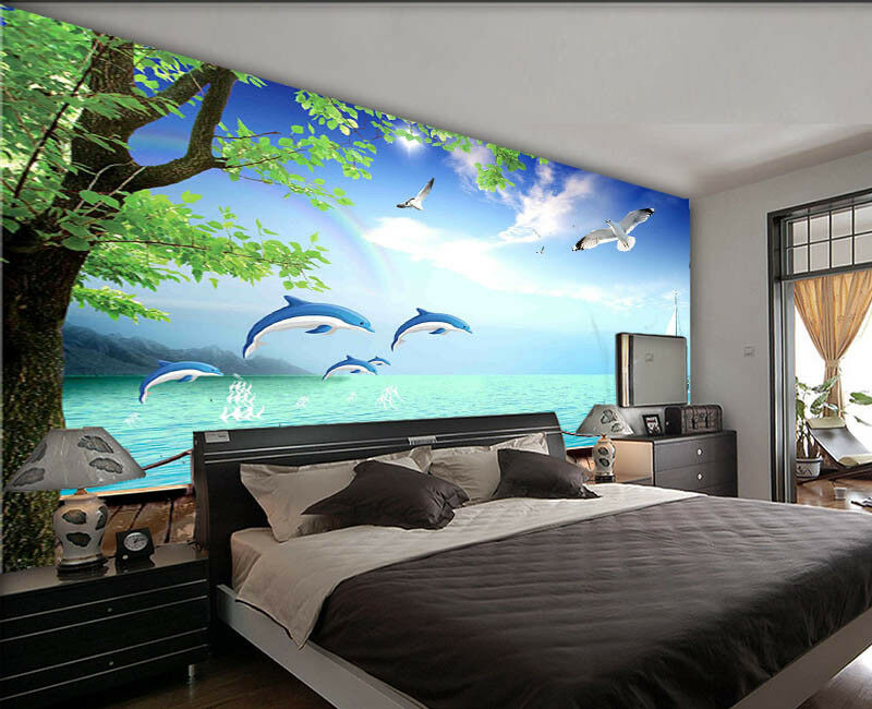 Flying Fade Crane 3D Full Wall Mural Photo Wallpaper Printing Home Kids Decor