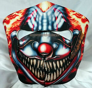 Smoking Scary Clown Motorcycle Biker Ski Snowmobile Neoprene Face Mask 1023 Ebay