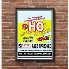 HO Scale Slot Car Speed Parts Poster - AJs Twinn K Indianapolis Vintage Slot Car