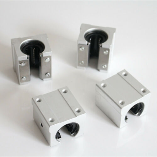 4pcs SBR16UU Linear Ball Bearing Support Unit,Linear Slide pillow blocks for CNC