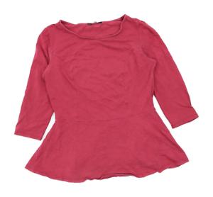 George-Womens-Size-12-Cotton-Blend-Pink-Top-Regular