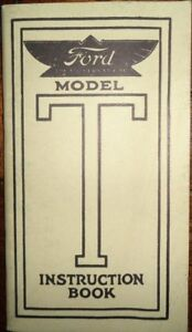ford model  owners manual instruction book reprint