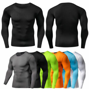 Men-Compression-T-Shirt-Base-Layer-Tight-Thermal-Sport-Long-Sleeve-Training