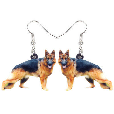 German Shepherd Dog Earrings Dangle