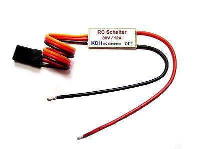 RC Schalter Hochstrom, 1 Kanal RC Schalter, 30V / 12A, Schaltmodul, Switch