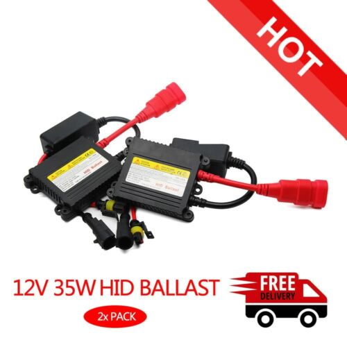 2 Pcs 35W DC Lamp Ballast HID Xenon Slim Ballast Conversion Kit Car Lights Set