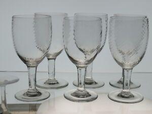 6-Grose-Weinglaeser-Kelchglaeser-Bistroglaeser-Val-st-Lambert-um-1900