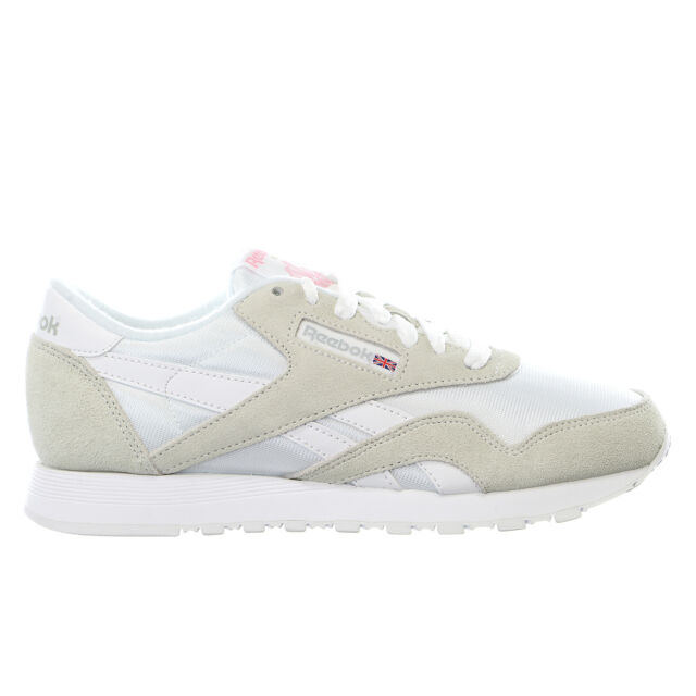 Women Gray Nylon White Fashion Shoes Light Sneakers Reebok Classic OXTZikuwP