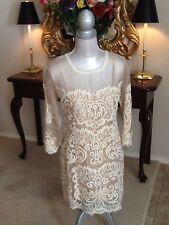 NEW Anthropologie Yoana Baraschi Paisley embroidered Sheer Silk Dress 8