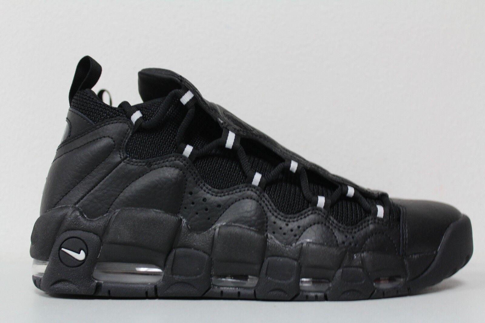 Nike Air More Money Black Mettalic Silver Uptempo Pippen AJ2998-002 Size 10.5
