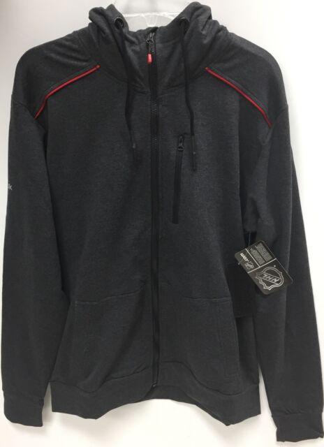 New Reebok Hoodie Zip-up Sweater Mens