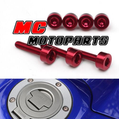 Red CNC Petrol Fuel Cap Tank Bolts For Honda CBR1000RR ABS 08 09 10 11 12 13