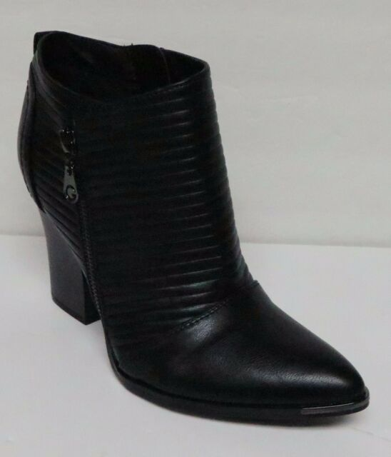 G by GUESS MAYKO WOMEN'S BLACK FASHION ANKLE BOOTS BOOTIES SIDE ZIP ALMOND TOE