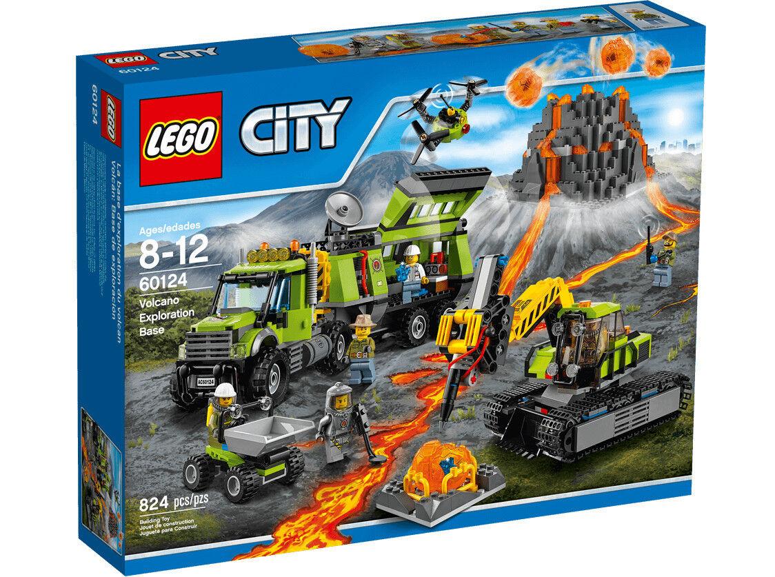 LEGO 60124 Base delle esplorazioni vulcanica CITY 8-12 Pz 824