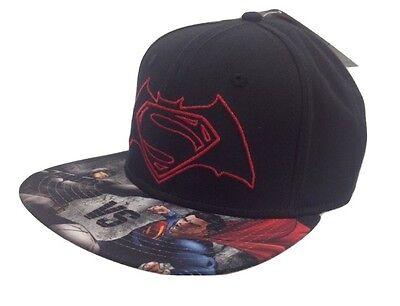 DC COMICS BATMAN VS SUPERMAN LOGO FLEXFIT TRUCKER HAT