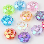 50/100Pcs Acrylic Flower 1.1mm Hole Loose Beads 10*4mm Bangle Necklace Accs