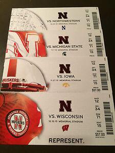 Nebraska Cornhuskers 2015 NCAA football ticket stubs - One ...