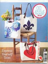 KWIK SEW SEWING PATTERN 121 BAGS W/ CONTRAST LINING, APPLIQUES & CONTRAST LINING