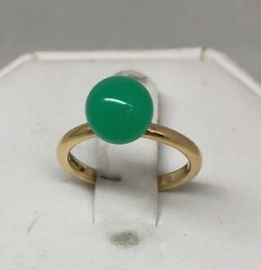 963bbc400ee9d Details about New Tiffany & Co Hardwear Ball 18K Y/R Gold Ring Chrysoprase  (Green)/ Moonstone