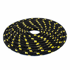 12mm Braided Polypropylene Poly Rope Cord Boat Yacht Sailing Black With Spots Ppanlg0c-10103010-186488646