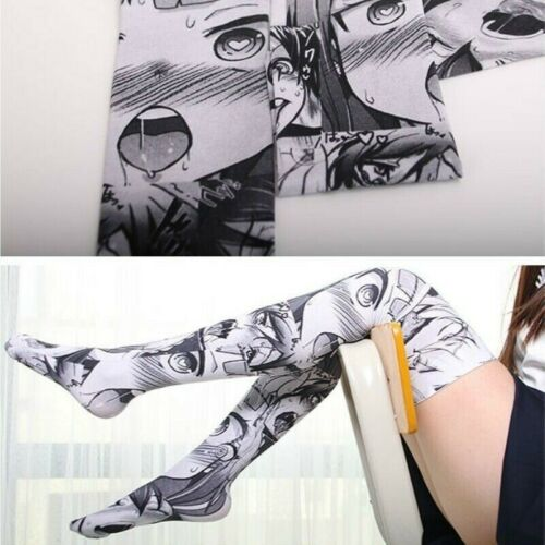 Lady Girls Japanese Thigh High Socks Stockings Over Knee Lolita Kawaii Cute Slim