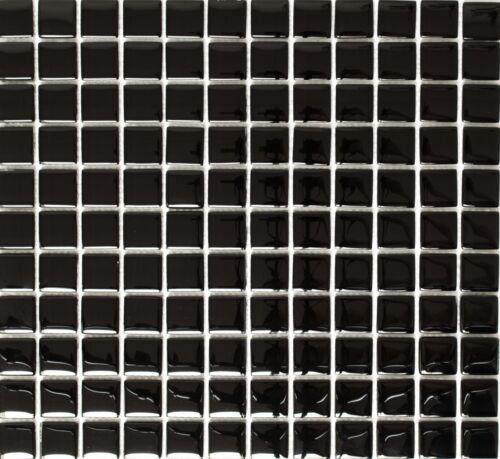 Glasmosaik schwarz Schwimmbad Pool Bad WC Küche Fliese70-0304/_f10 Matten