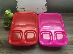 Lot-Of-2-Goodbyn-Hero-lunch-box-Red-Pink