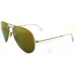 b1608f629 Ray-Ban Gafas de Sol Aviador 3025 112/93 Dorado Mate Marrón Espejo ...