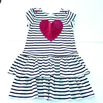 NWT Gymboree Cozy Valentine Striped heart dress SZ 2T,3T,and 4T