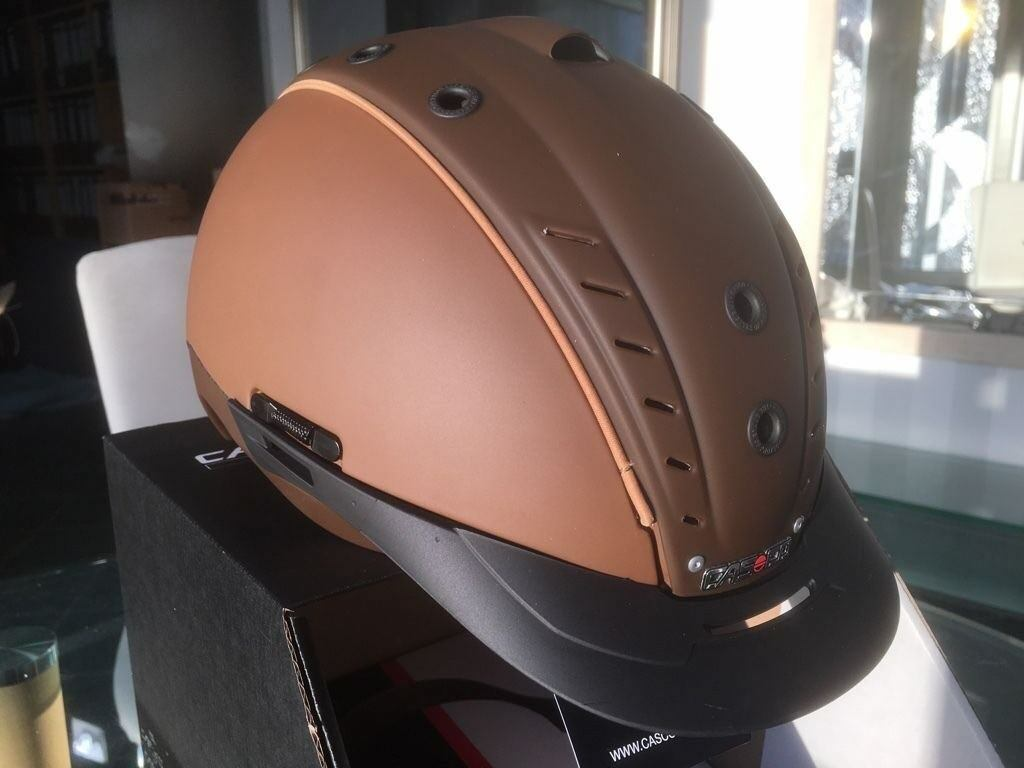 Casco reithelm Mistrall 2 II Megazepelín modelo marrón casco reitkappe nuevo crownclub