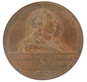 RARE-LARGE-1790-FRENCH-LOUIS-XVI-MEDAL-034-VIVE-A-JAMAIS-LE-MEILLEUR-DES-ROIS-034