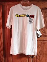 Jerry Leigh Mens Unisex White Short Sleeve Funny Or Die T-shirt Size Large