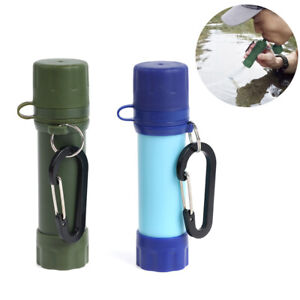 Portable Survival Water Filter Straw Purifier Bottle Camping Emergency Outdo MJ