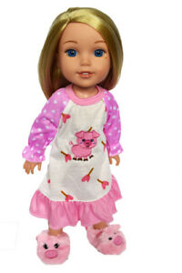 Zebra Nightgown For Wellie Wisher Dolls