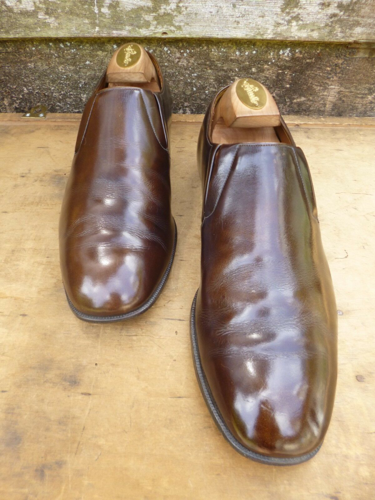 CHURCH VINTAGE LOAFERS  – BROWN  LOAFERS – UK 8.5 – BRUMMEL - EXCELLENT CONDITION e3d337