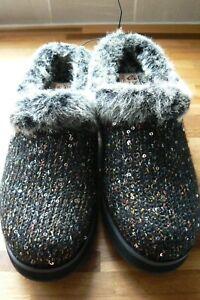 con 6 Keepsakes 5 Skechers Sweater High Sequin Nero memoria Pantofole schiuma di TqXwSaT