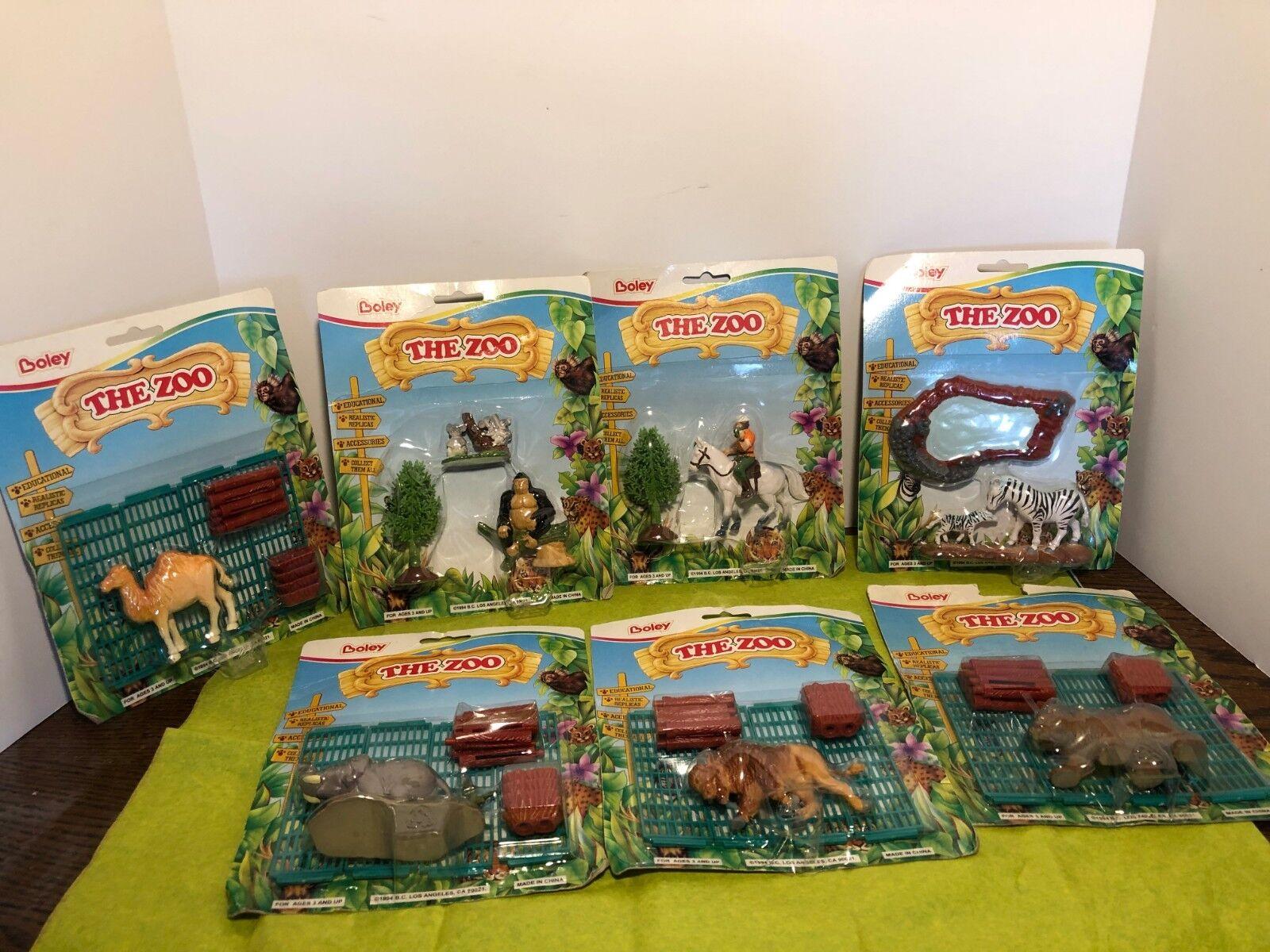 7  VTG RARE  Boley  Safari Animal Sets  Different Varieties of Zoo Toys new