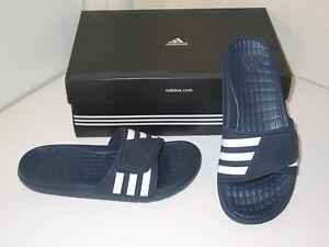 6b98a238a634b Adidas Alquo Team Custom Slides Sandals Flip Flop Navy Blue   White ...