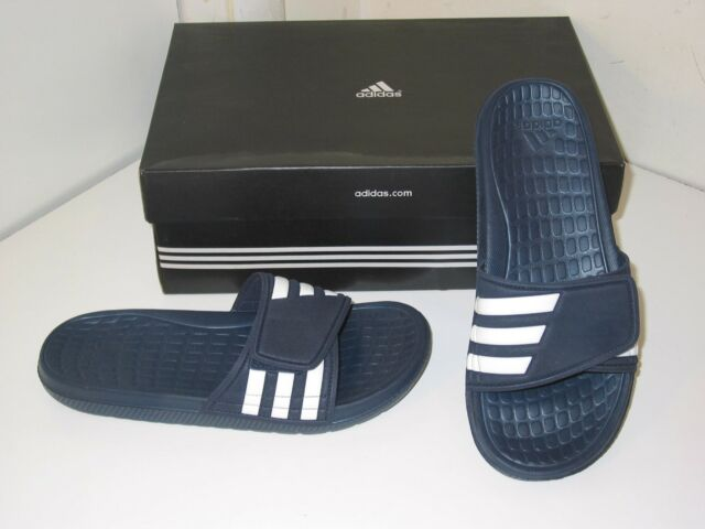 huge inventory hot products outlet Adidas Alquo Team Custom Slides Sandals Flip Flop Navy Blue & White Shoes  Mens 8
