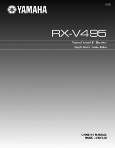 yamaha rx v495 receiver owners manual ebay rh ebay com yamaha rx-v665 service manual Yamaha Rx- V677
