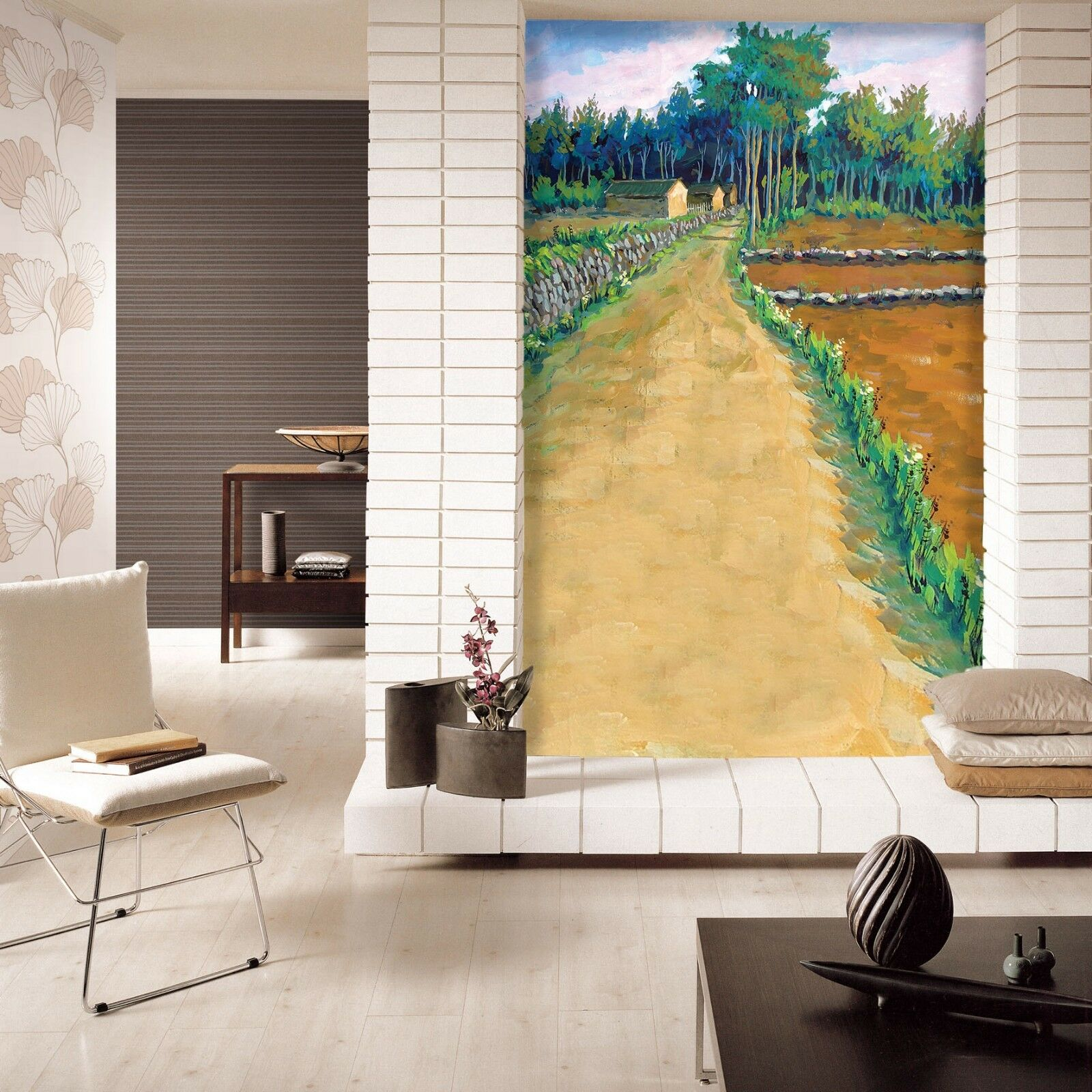 3D Idyllic Path 44 Wall Paper Wall Print Decal Wall Deco Indoor Mural Carly